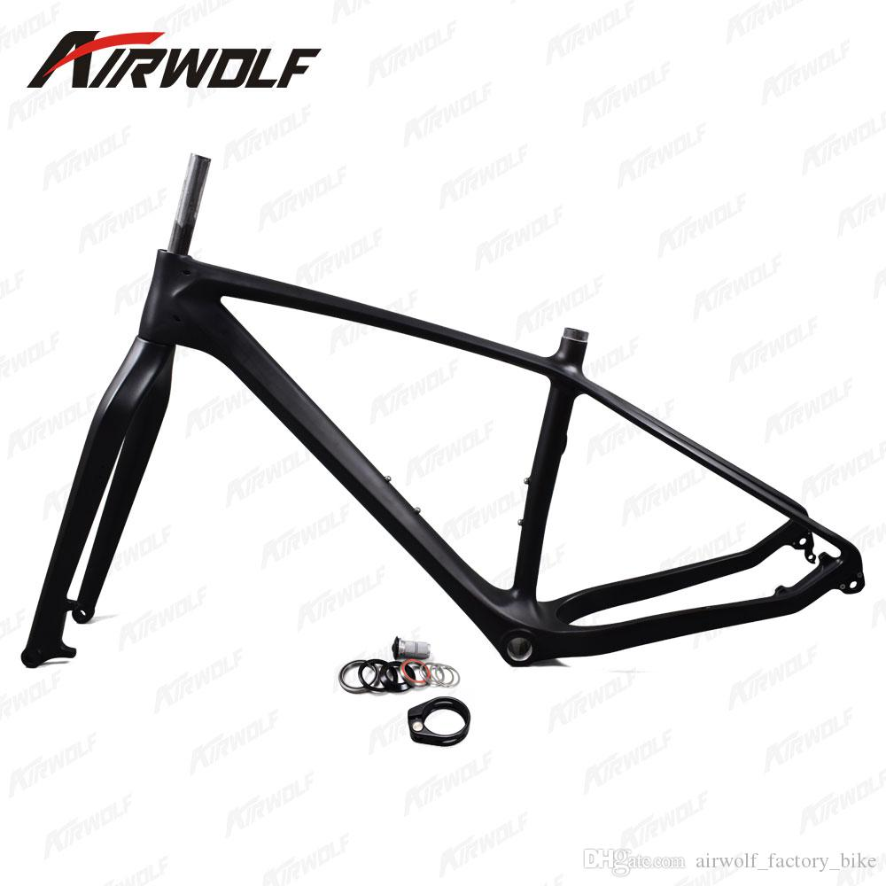 Carbon Fat Bike Mtb Frame 26er Ud Black Framework Bicycle Mtb Bsa ...