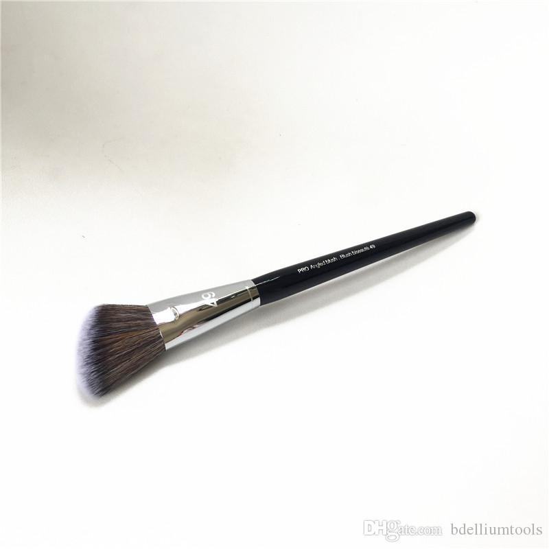 Pro Angled Blush Brush #49 - Soft Blusher Powder Contouring Highlighting Brush - Beauty Makeup Brushes Blender tools