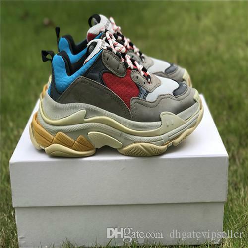 d68f940d925 Acheter 2018 Haute Qualité Dévoile Nouvelle Triple S Sneakers Meilleur Mode  Spécifiques Trainers