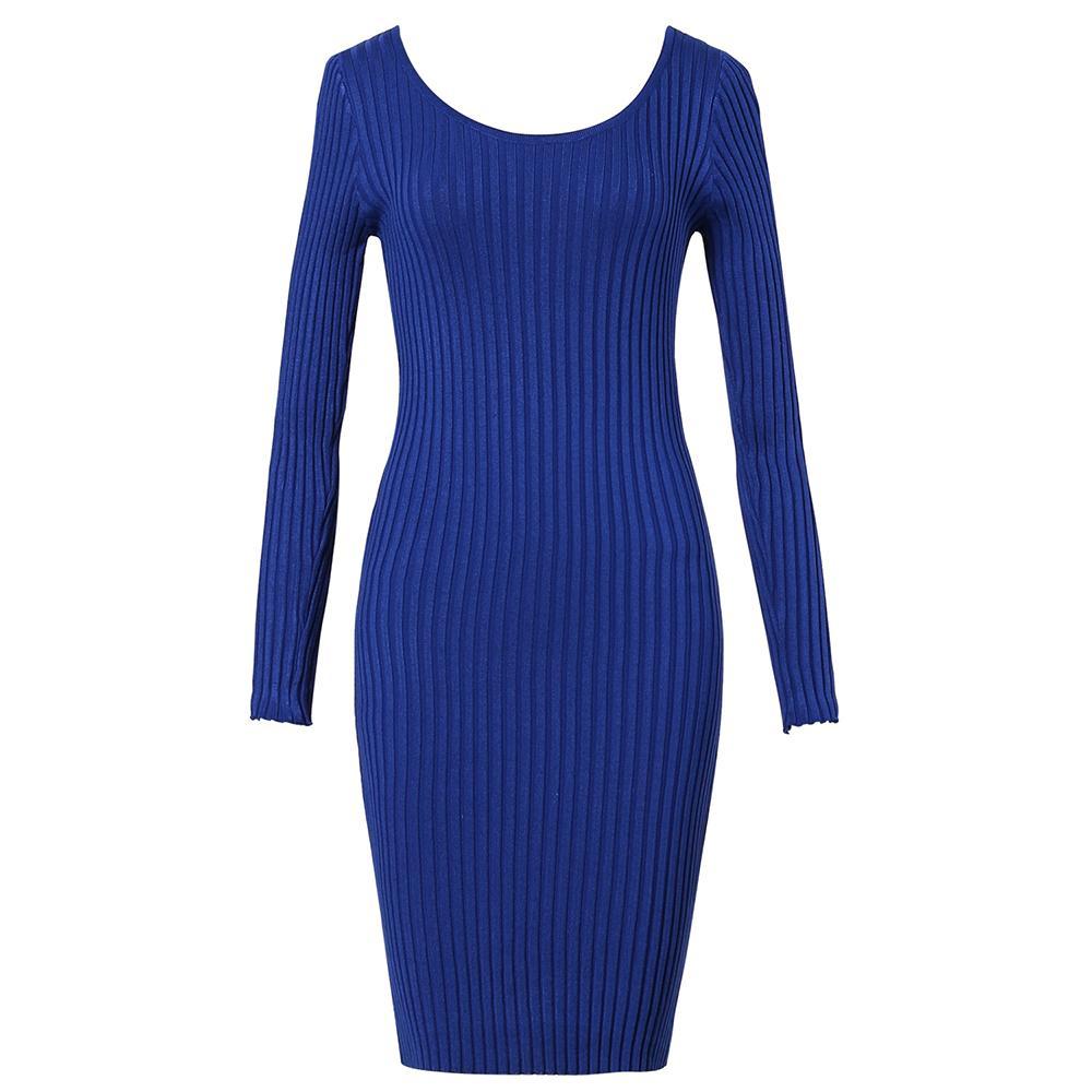 c2a5a66ce3a Großhandel Frauen Casual Einfache Kleider Herbst Bodycon Acryl Wolle  Pullover Große Größen Mädchen Mode Sexy Elegante Baumwolle Plus Größe Dress  Von ...
