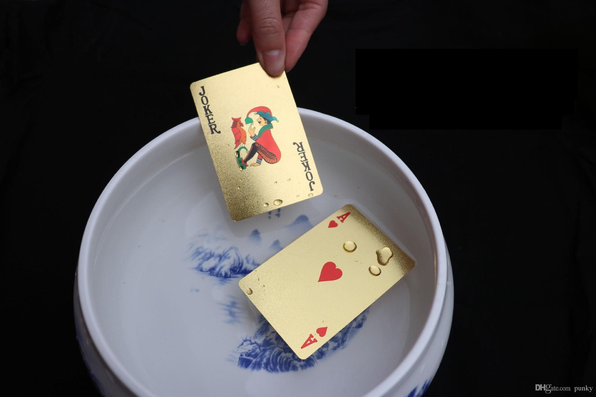 New Arrival 11 designs Gold Foil Silver Foil Plated Playing Cards High-grade Sports Leisure Game Poker Card Gift Wholesale