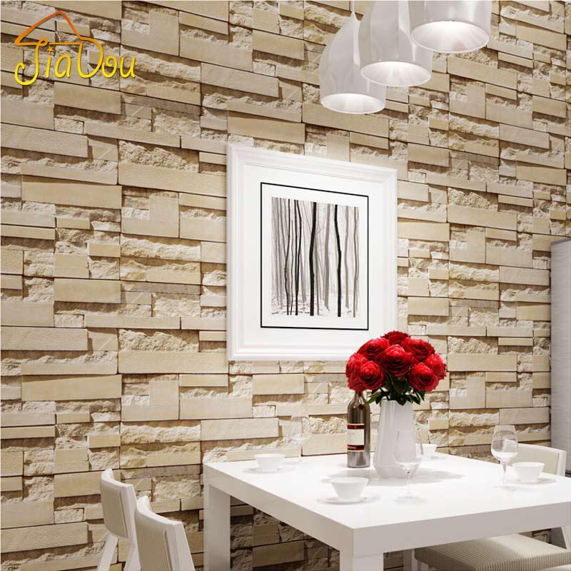 luxury stone brick wall vinyl wallpaper roll 3d living room bedroom