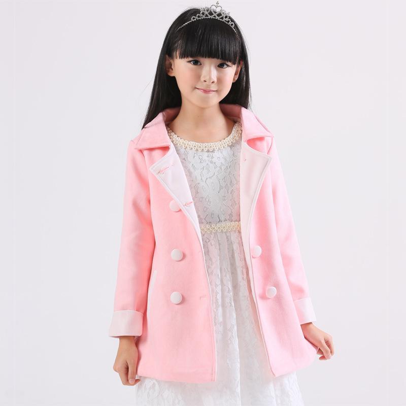 1cc5a8694d2b Girls Fashion Trench Coats Jackets Clothing Tops Kids Children s ...