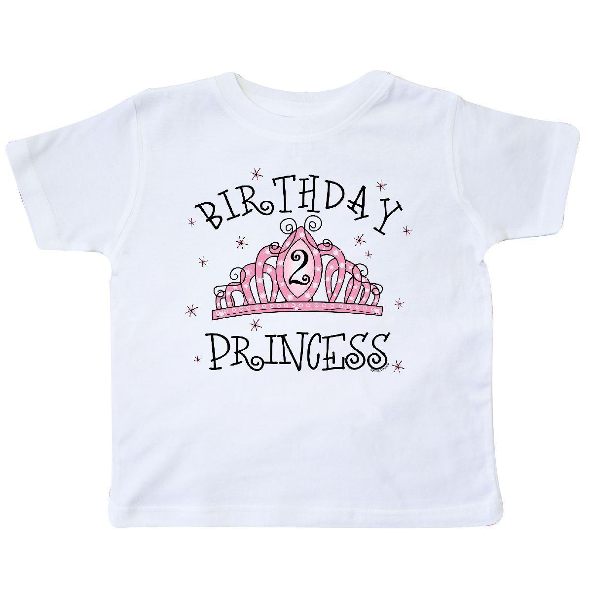 Inktastic Tiara 2nd Birthday Princess Toddler T Shirt Crown Sparkle Fairy Second Funny Unisex Casual Tee Gift Fun Shop Online Shirts From