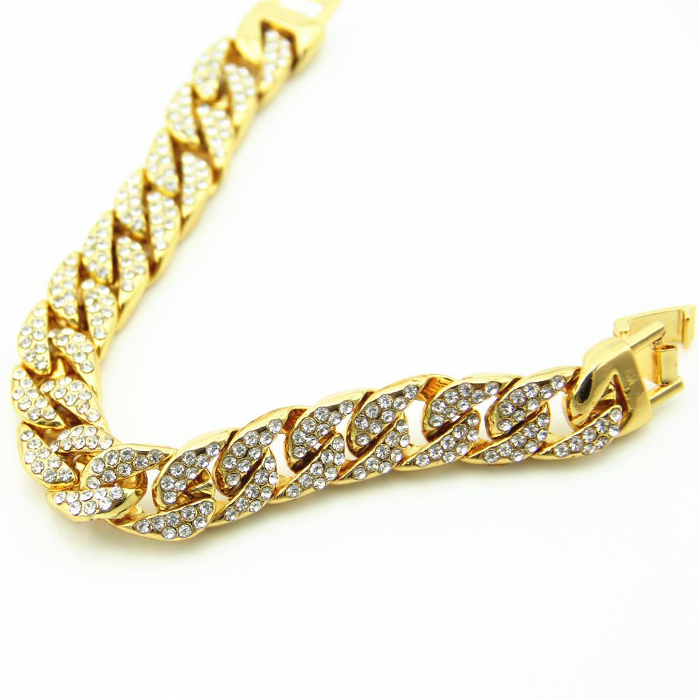 dfd18bafd8e9e NEW Iced OUT Chunky BLING CZ Miami Cuban Link Chain Bling Bracelet Gifts  Hip Hop Empire Mens Jewelry Drop Shipping