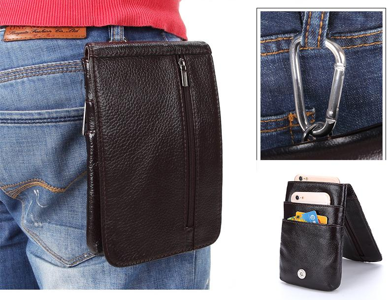 3c84c08afa Genuine Leather Vertical Waist Bag Case For 360 N6/N6 Lite/N7/N6  Pro/N4/Qiku F4 Terra CellPhone Belt Clip Pouch Holster Cover Cell Phone  Case Mobile Phone ...