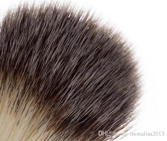 Superb Barber Salon Rasierpinsel Schwarz Griff Blaireau Gesicht Bart Reinigung Männer Rasiermesser Pinsel Reinigungsgerät Werkzeuge CCA7700 100 stücke