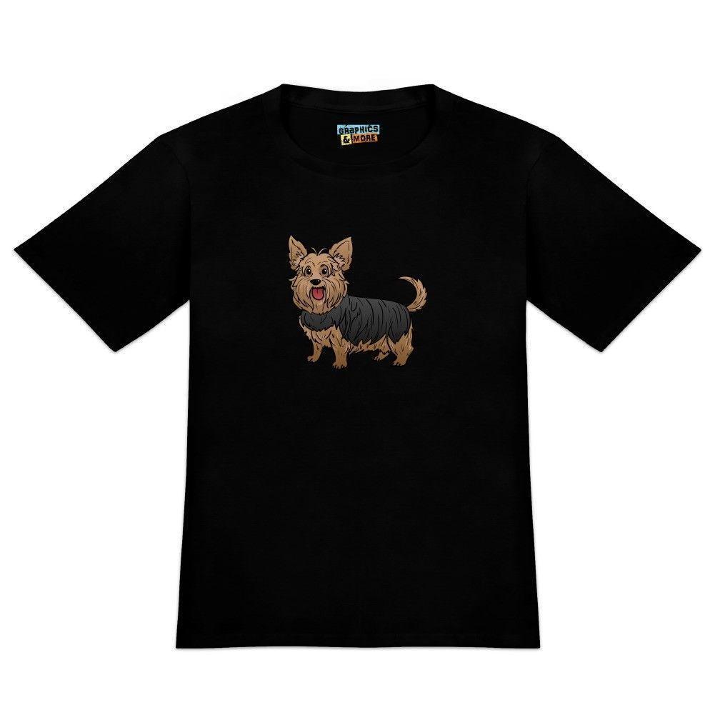d44a9c1fd7 Compre Yorkshire Terrier Yorkie Con Camiseta De La Novedad De Los Hombres  Camiseta Chaqueta De Cuero De Croatia Camiseta Denim Clothes Camiseta