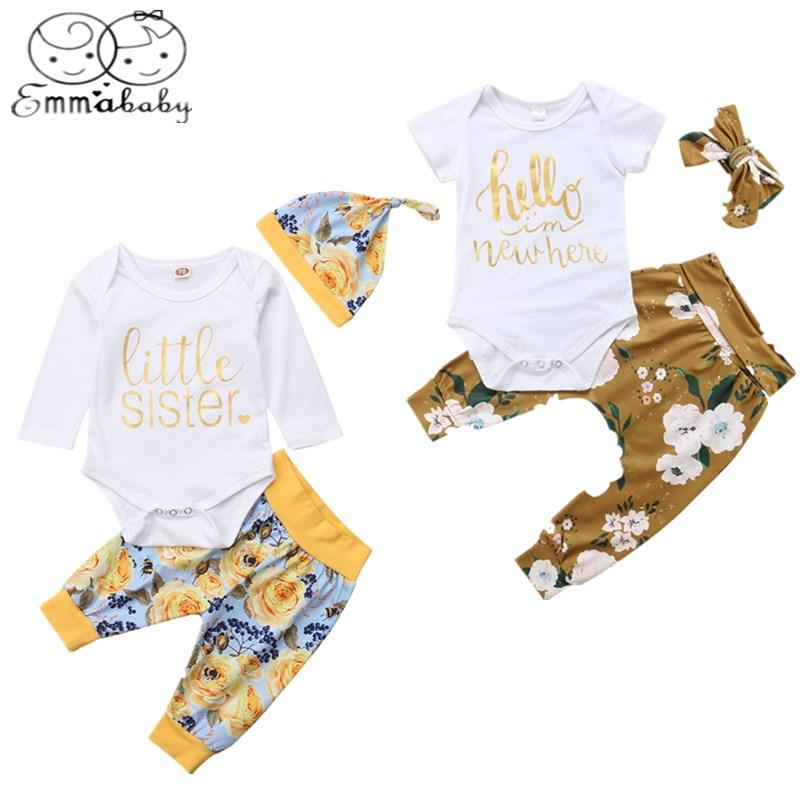 e0178ca16 2019 Emmababy 2019 Floral Newborn Infant Baby Girl Romper Playsuit +Pants Outfits  Clothes From Sophine13, $39.48 | DHgate.Com