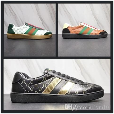 95898237cd0 Mens Women Designer Shoe Fashion Dapper Dan Luxury Brand Casual Shoes Black  Light Brown White Python Leather Sneakers Size 34 46 Girls Running Shoes  Kids ...