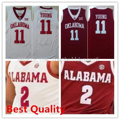 2019 Trae Young Jerseys 11 NCAA Oklahoma Sooners Mens Women Kids Collin  Sexton 2 Alabama Crimson Tide College Basketball Shirts Red White Cheap  From ... d3f942edc