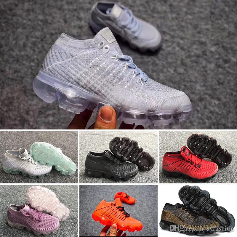 2018 Kinder Nike Air Max Voparmax Schuhe Skate Jungen Und Mädchen Kinder Schuhe 6 Farben Kinder Schuhe Kind Turnschuhe Eur Size 28 35