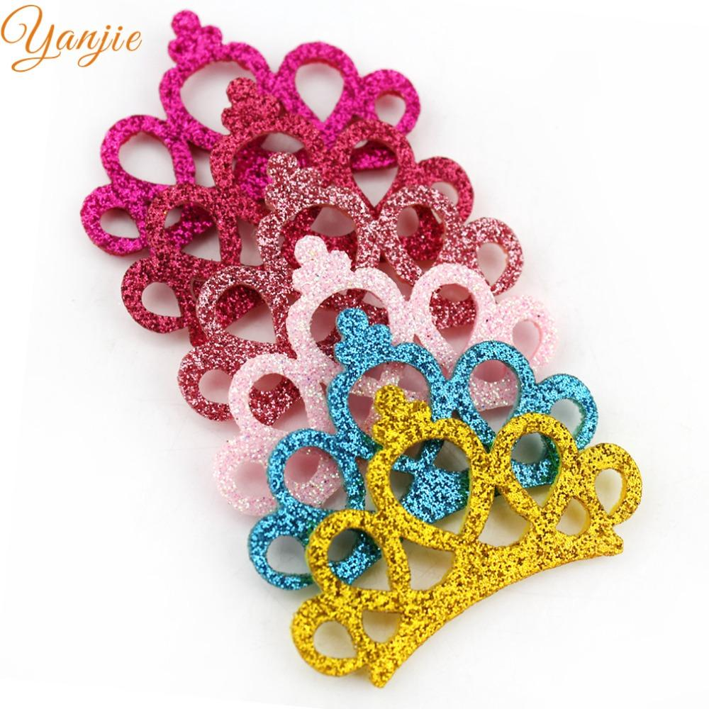2019 2018 Pretty Glitter Felt Princess Handmade Diy Crown Hot Sale