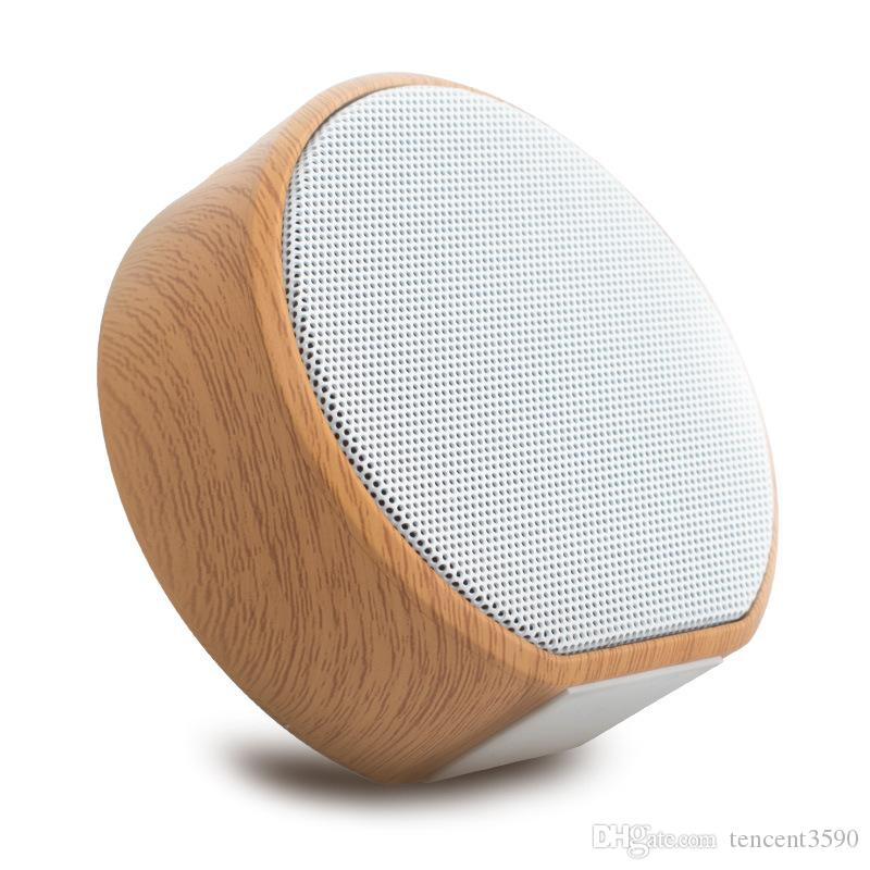 Creativity portable Wireless Bluetooth Speaker Home theater Subwoofer Desktop Wood grain speaker for iphone7 8 plus X XS max Xr