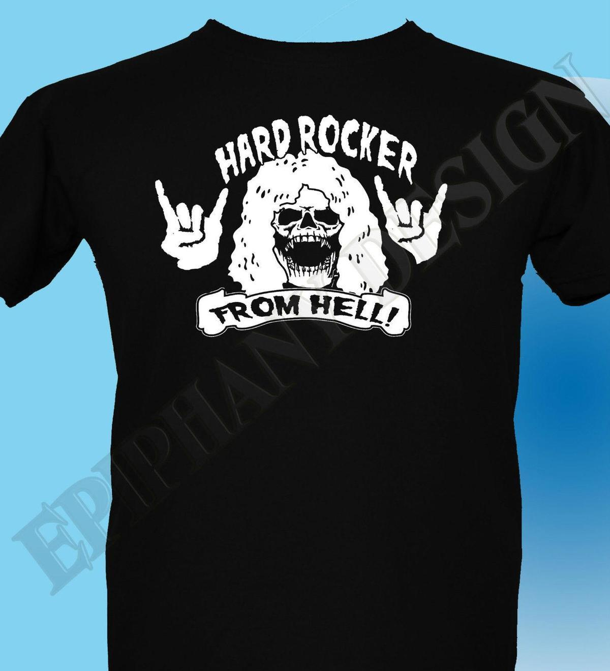 super popular 1c58b da269 Harte ROCKER from Hell Herren T-Shirt 3XL 4XL 5XL 70's Jahre Heavy Metal
