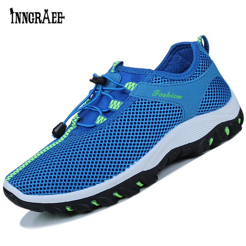 7cad6de949d76b 2019 Hiking Shoes For Mens Outdoor Sport Breathable Hiking Waterproof  Trekking Camping Travel Navy Mountain Shoes Man Walking C8065 From Kimgee