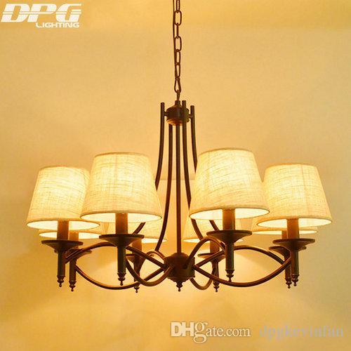 Black Art Deco Modern Iron Shade Chandeliers Fixtures E14 110v 220v Cottage For Dining Room Living BedroomBlack Mo Antler