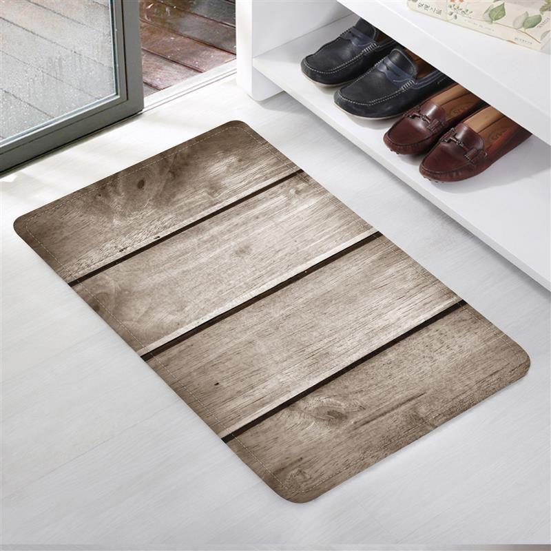 Grosshandel 40 60 Cm Bad Teppiche Wasserdichte Holz Muster Kuche