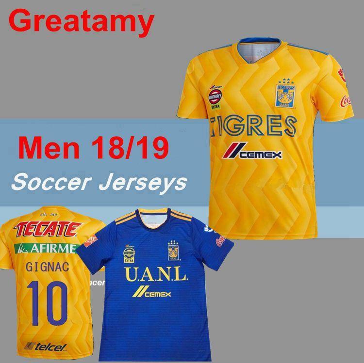 4e4cab1db3f 2019 2018 2019 NEW Tigres UANL Soccer Jerseys Thai Quality Men Kit 18 19  Mexico Club Maillot De Foot Home Away 3rd 6 Star GIGNAC Football Shirts  From ...