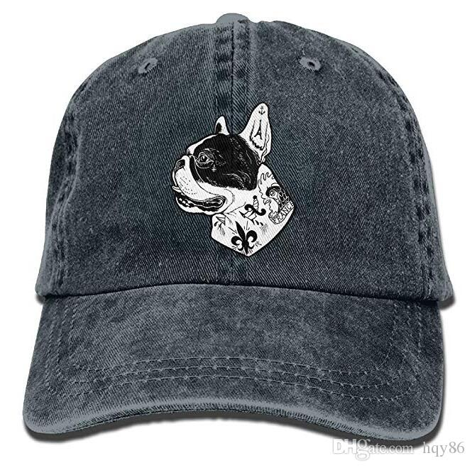 9d021f0b Tattooed French Bulldog Adult Cowboy Hat Baseball Cap Adjustable Athletic  Custom Printed Latest Hat For Men And Women Baseball Caps For Men Mesh Hats  From ...