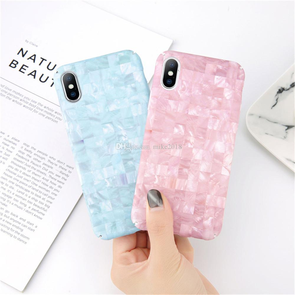 8a5bf87e2869db Phone Case On For Iphone 6 Case Grid Pink Purple Blue Marble Matte Plastic  PC Cover On For Iphone X XS 6 6s 7 8 Plus Case Customized Phone Cases Cute  Phone ...