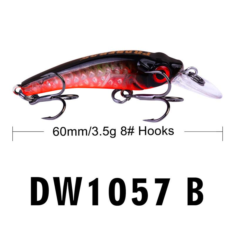 New Small Artificial Crank Fishing bait 6cm 3.5g Freshwater Fishing Laser lure 8# BKB Hooks