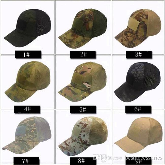 18VC-01 Men Women Mesh Tactical Cap Outdoor Hunting Camping Special Forces  Summer Morale Caps for Baseball Can Mixcolor Mesh Tactical Cap Outdoor Cap  ... 28cc235f344c