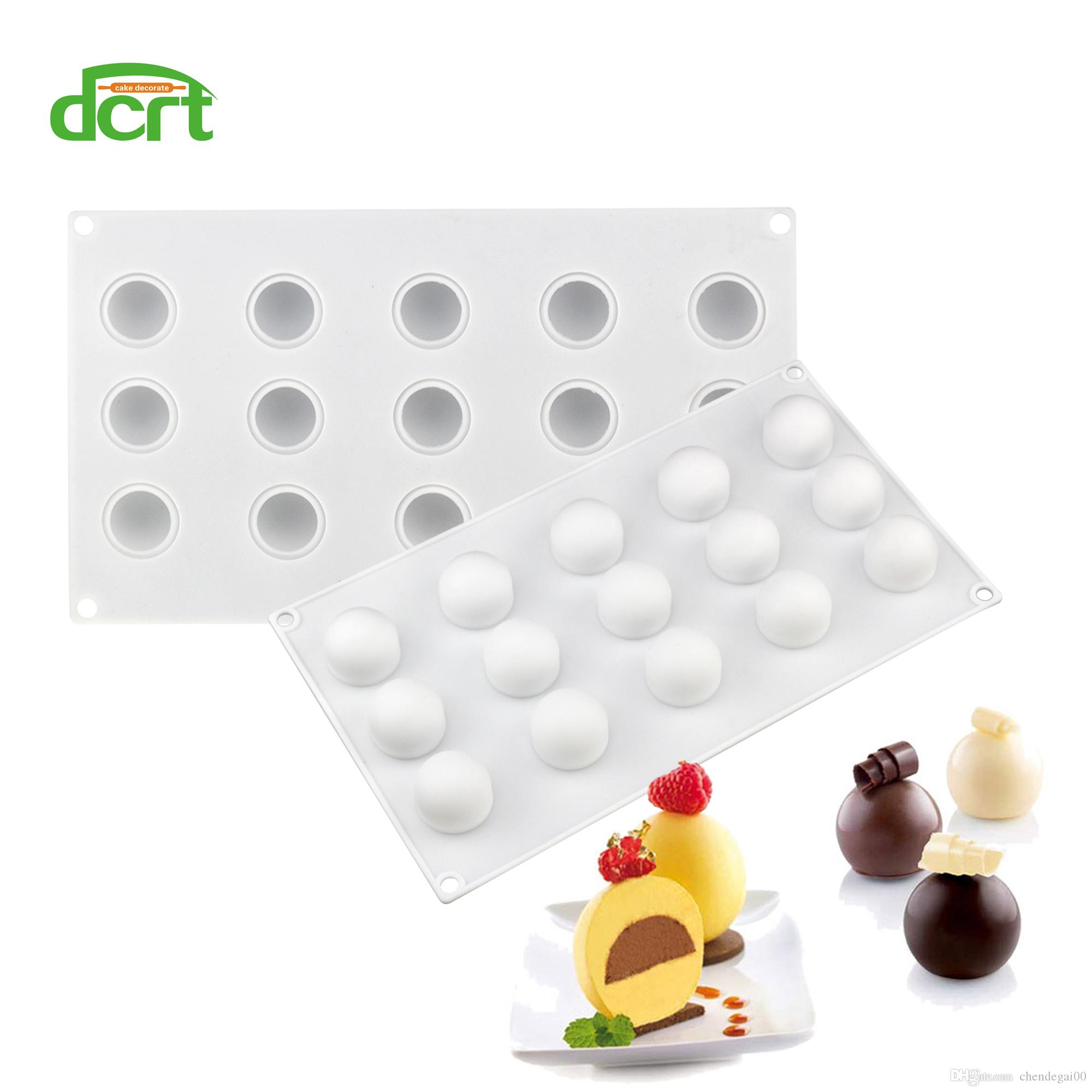 15 Holes Ball Shaped Silicone Cake Mold For Truffles Chocolate Desserts Baking Pan Cakes Decorating Tools Kitchen Accessories