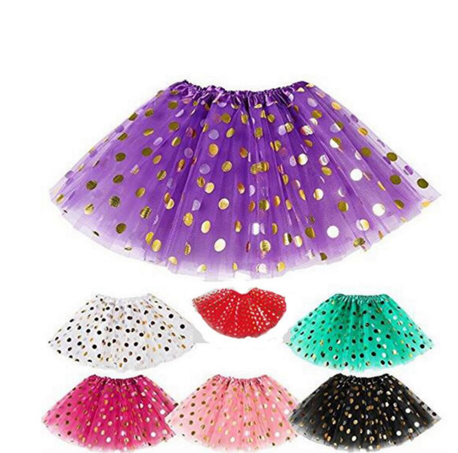 9a27f24f051 Acheter 11styles Fille Paillettes Jupe Or Polka Dot Dancewear Jupes Jupe De  Fête Girl Shine Noël Princesse Mini Robe Courte FFA859 De  3.1 Du Top toy  ...