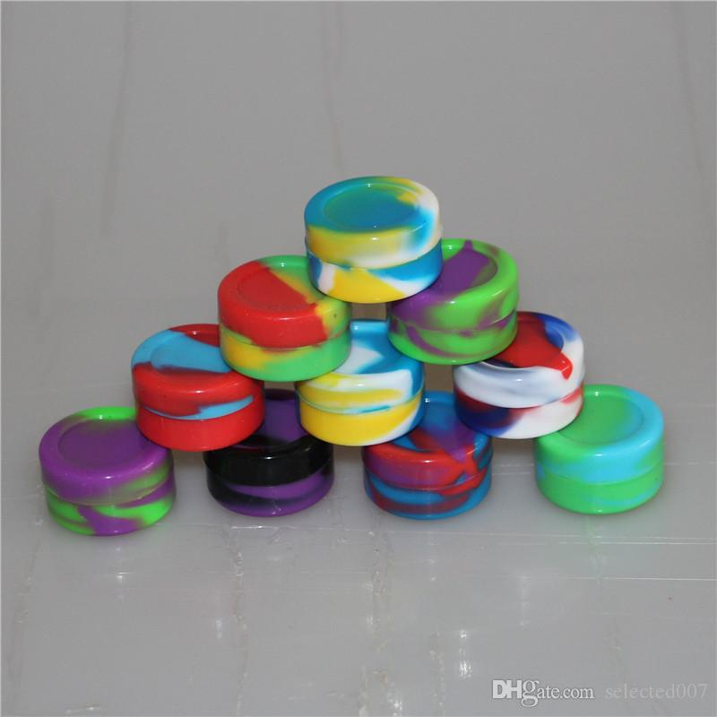 Wholesale - reusable silicone wax box storage Silicone jars container silicon contianers for wax silicon jars dab wax containers