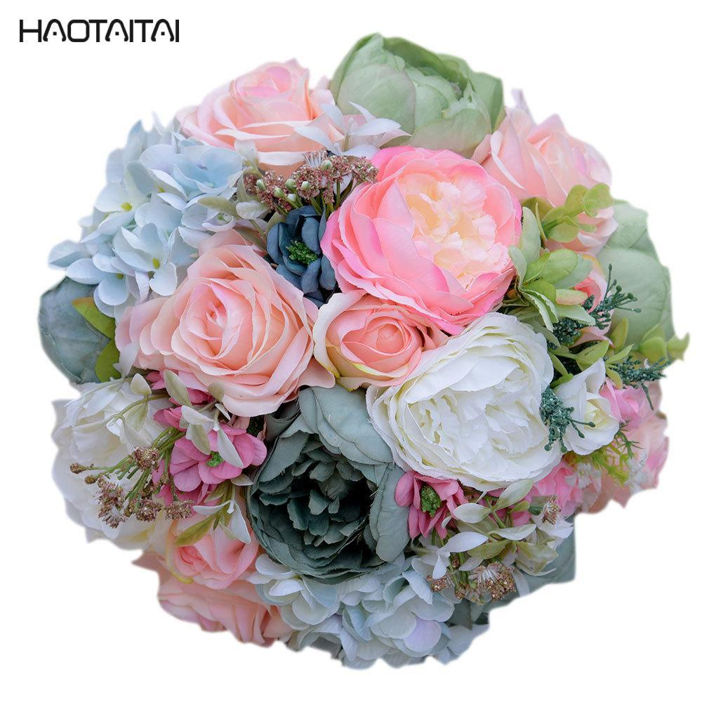 Bridal Bouquet In Stock 2018 Beautiful Artifical Rose Wedding
