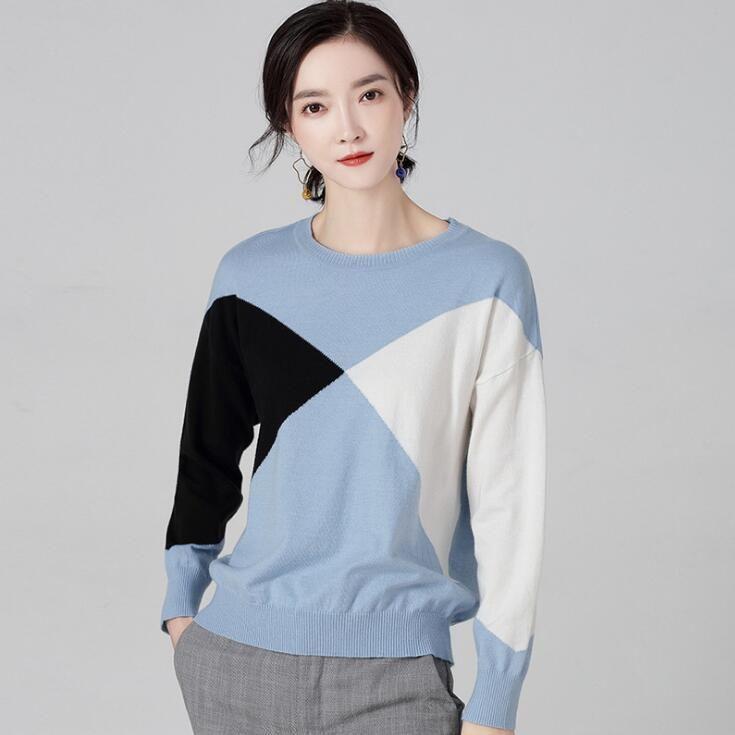 0f24d93cb2c Women s Long Sleeved Round Neck Sweater New Autumn Winter 2018 ...