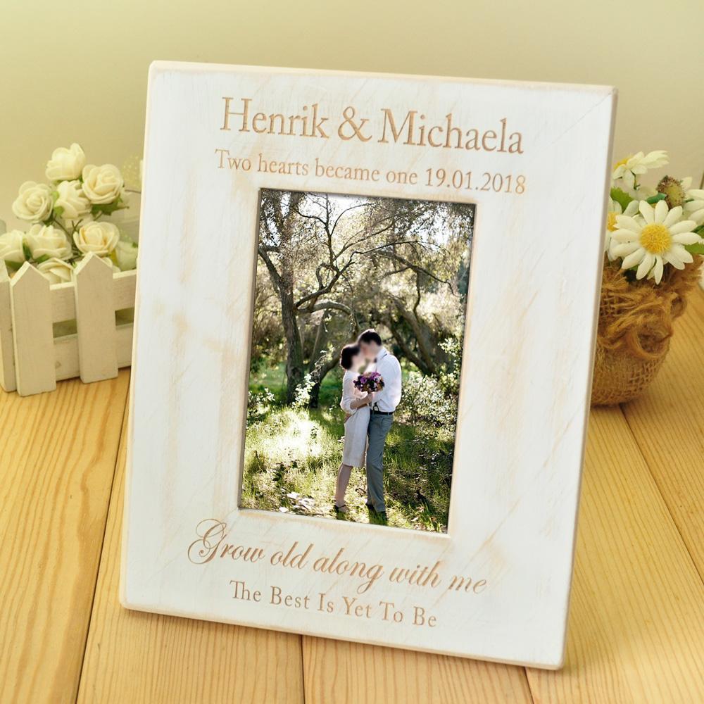 Online Cheap Custom Wedding Photo Frame, Wooden Wedding Couple ...