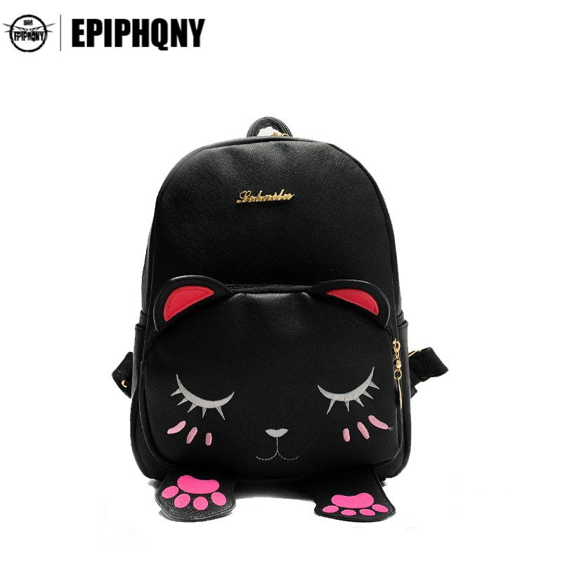 Cute Cat Backpack Funny Kawaii PU Leather School Backpacks Bag For  Teenagers Girls Schoolbag Small Animal Bagpack Women Travel Backpack Cute  Backpacks From ... b03d8d9476c01