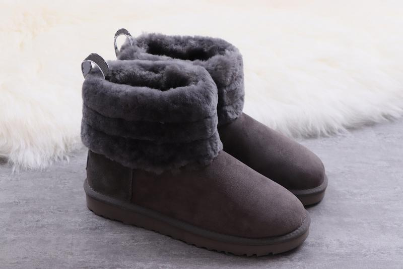 707dd3104ee Women S Fluff Mini Quilted Logo Boot 3 Colors Suede And Sheepskin Nylon  Binding 5.5 Shaft Height Snow Boots Fur Warm Boot Shoes 0Ugg08