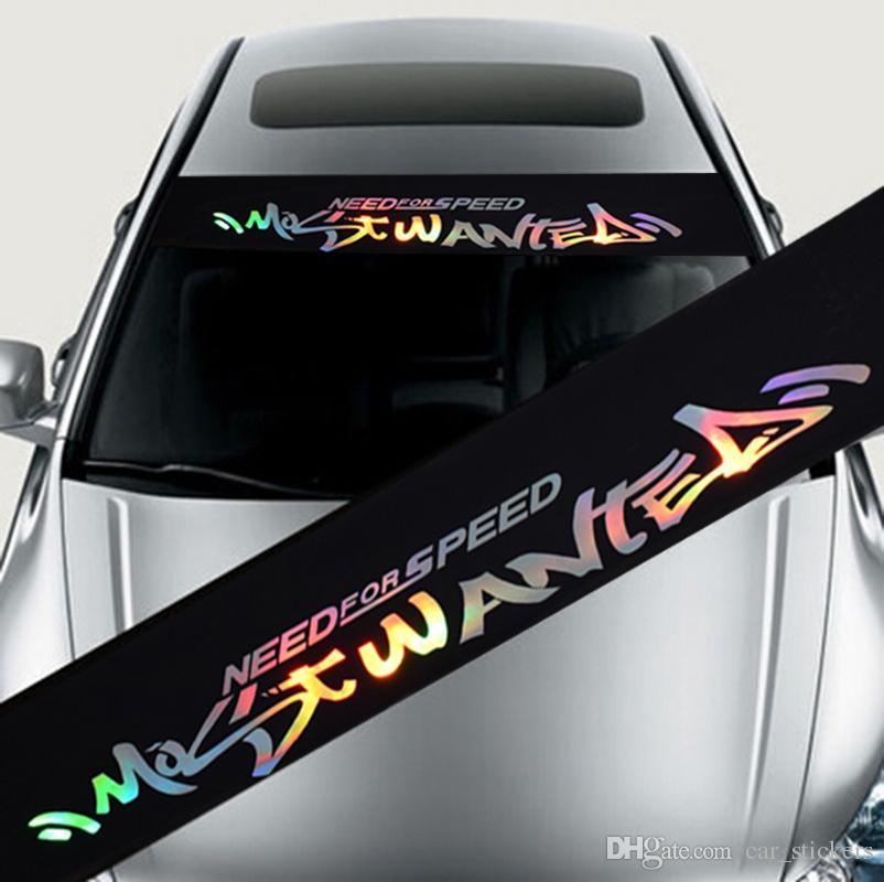 Lazer Yansıtıcı Harfler Oto Araba Ön Pencere BMW Audi Ford Focus Mazda için Ön Camı Çıkartması Çıkartmalar - Araba Styling