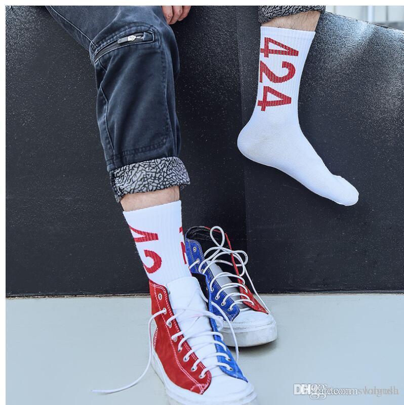 Underwear & Sleepwears Male Trend Personality Hip-hop Street Skateboard White Ankle Socks Novelty Men Short High Help Long Tube Summer Hip Hop Teen