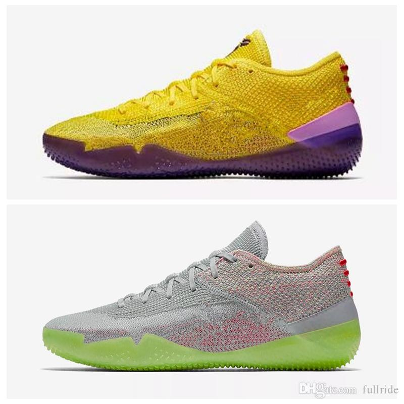 wholesale dealer 57a21 0d914 2018 Kobe A.D. NXT 360 Yellow Strike Mamba Day Multicolor Mens Basketball  Shoes For Top Quality 12 Wolf Sports Sneakers Size7 12 Jordans Shoes Sport  Shoes ...