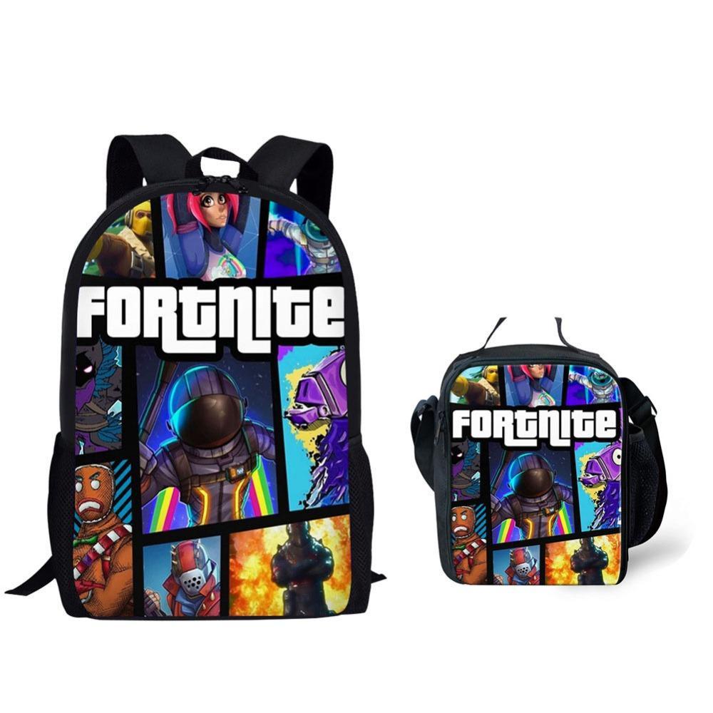 2019 New School Bags Fortnite Games Pattern School Backpack for Girls Boys  Orthopedic Schoolbag Backpacks Children Book Bag Backpacks Cheap Backpacks  2019 ... 750980a932
