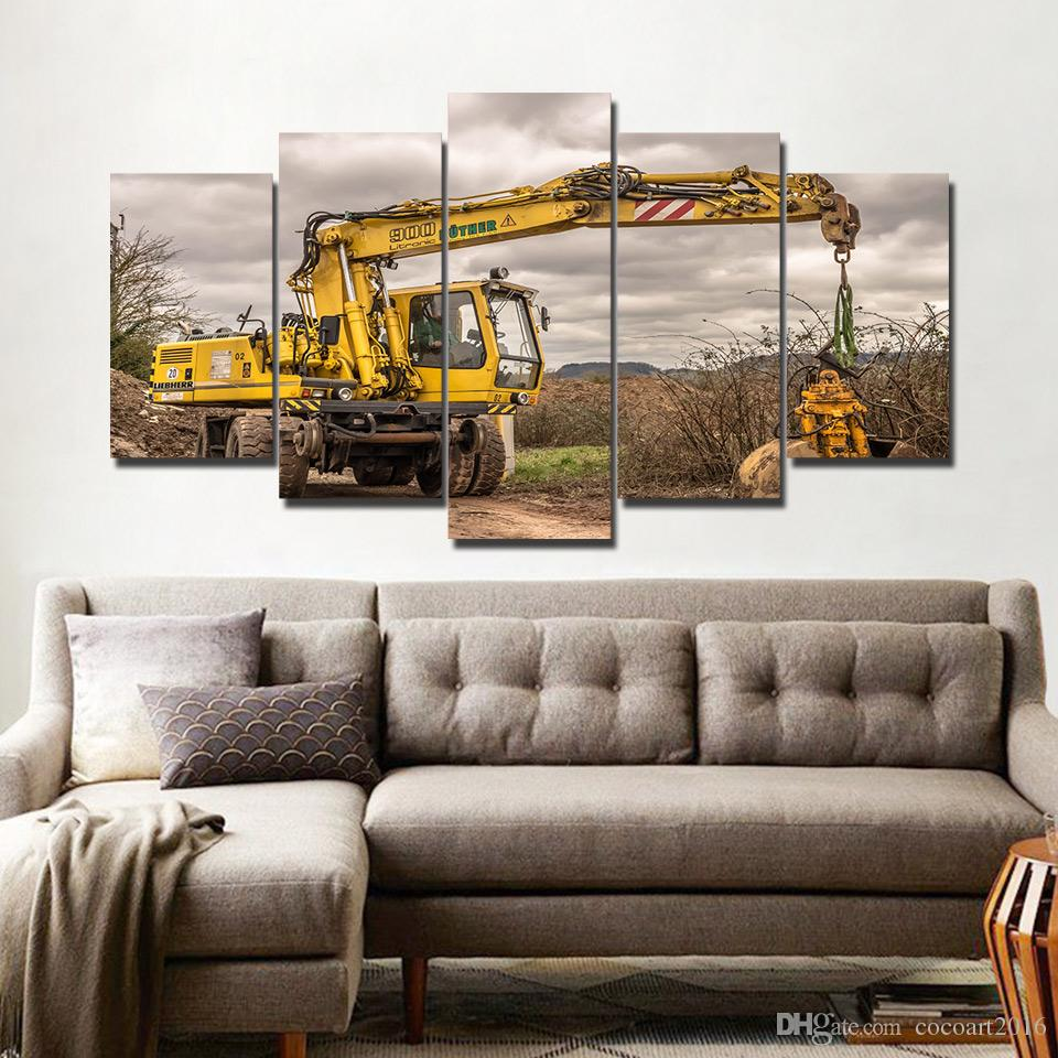 5 Pieces Canvas Prints Crane Painting Wall Art Modular Picture Modern  Decorative Paintings bedroom Canvas Poster