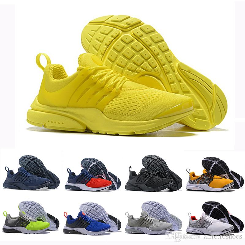 00ac213c021e Air Red PRESTO BR QS Breathe Yellow Triple Black White Mens Prestos Shoes  Sneakers Women Running Shoes Men Sports Safari Pack Designer Skechers  Running ...