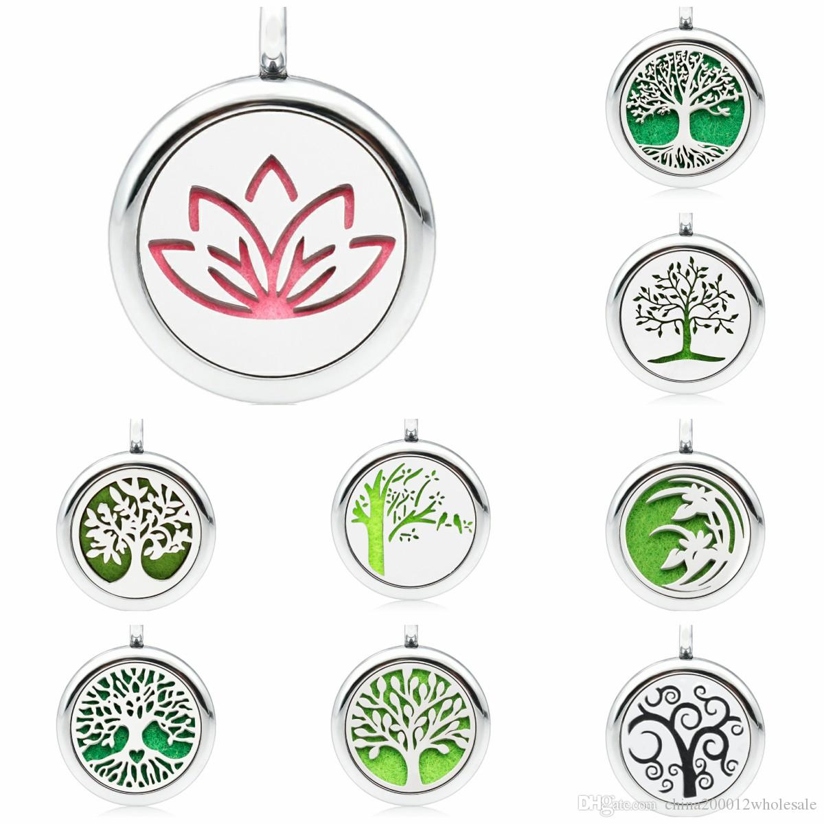 2018 tree of life lotus flower tree perfume essential oil diffuser 2018 tree of life lotus flower tree perfume essential oil diffuser locket 25mm hollow locket with 1 pad randomly as gift no chain from china200012wholesale izmirmasajfo