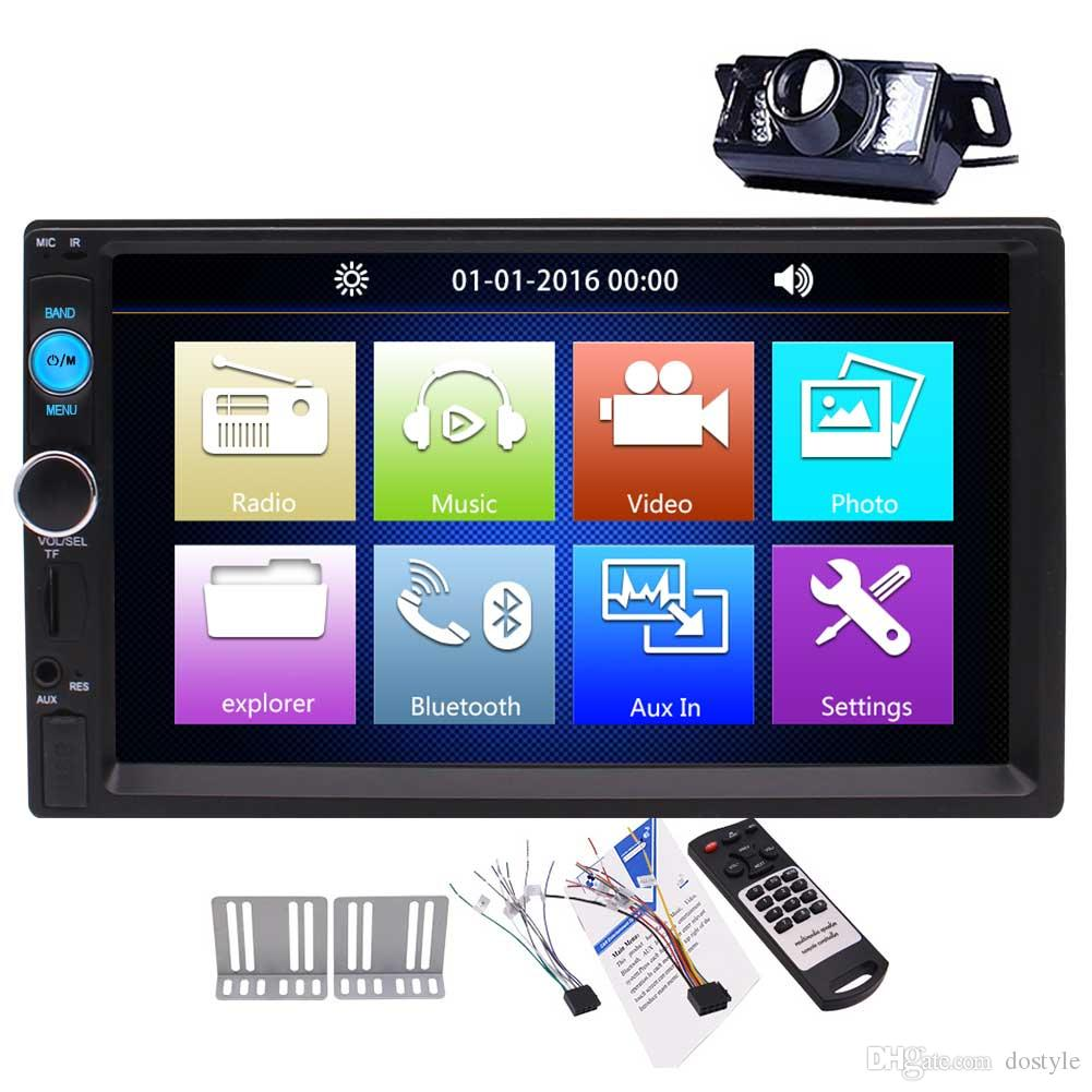 7\u0027\u0027 double din car mp5 player capacitive touch screen bluetooth car7\u0027\u0027 double din car mp5 player capacitive touch screen bluetooth car audio video player fm radio car stereo reciverer usb sd remote control