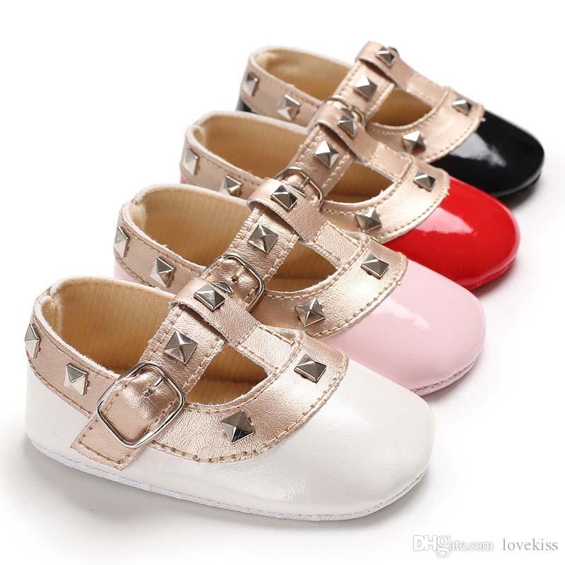 2e2c4c5a72 Compre Moda Infantil Zapatos Princesa Del Bebé Primeros Zapatos Del  Caminante Mocasines Zapatos De Niño Suave De Cuero Recién Nacido Zapato Bebé  Grils ...