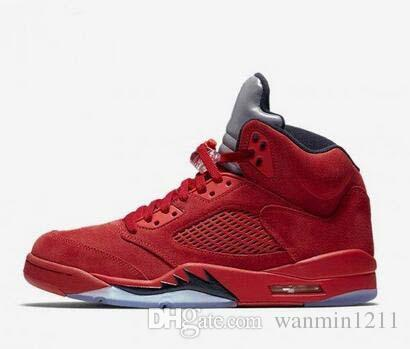 2018 new 5s Classic 5 flight V suit red blue suede cement camo grape Basketball Sports Shoes sneakers for men women size 41-47