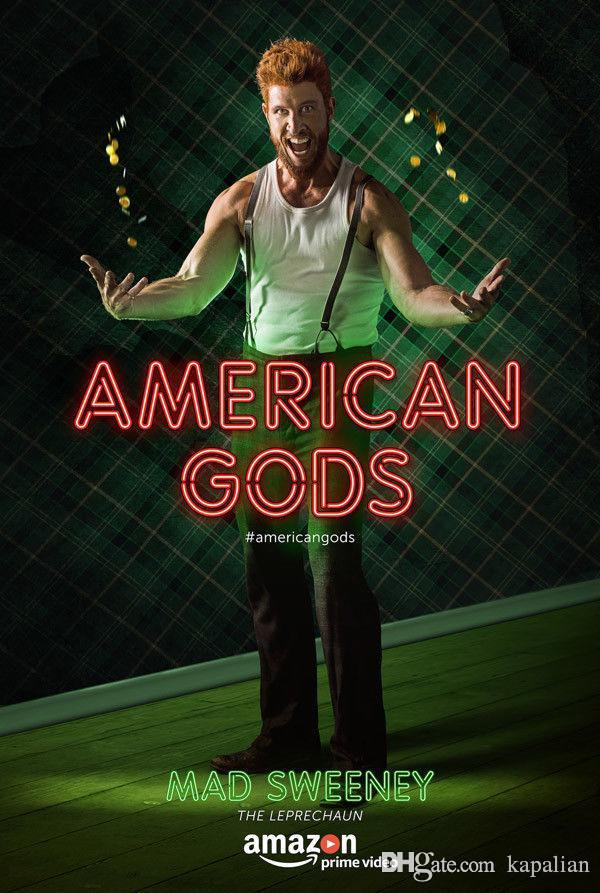 2019 American Gods Tv Show Madsweeney High Quality Art Posters Print