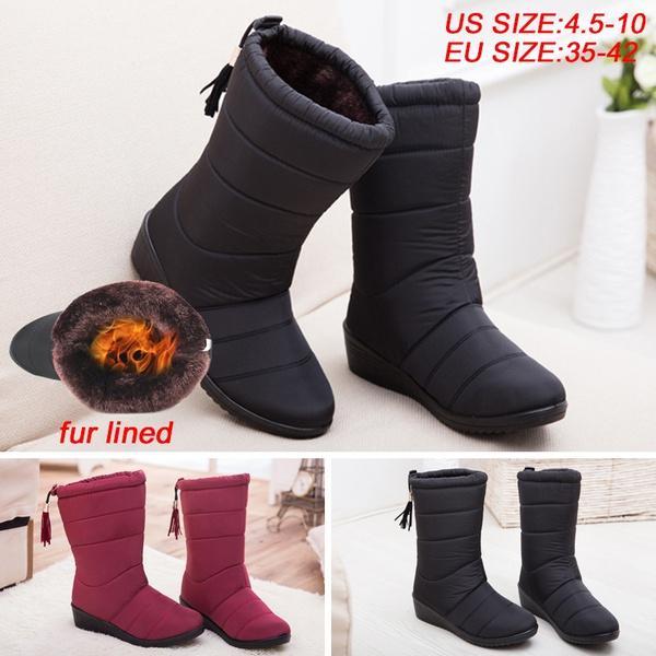 11fcd6d3c2aa82 Acheter Taille Plus 35 42 Nouvelles Femmes Bottes D'hiver Neige Bottes Pour  Femmes Bottes De Fourrure Bottes De Neige Femme Casual Femmes Chaussures  Noir ...