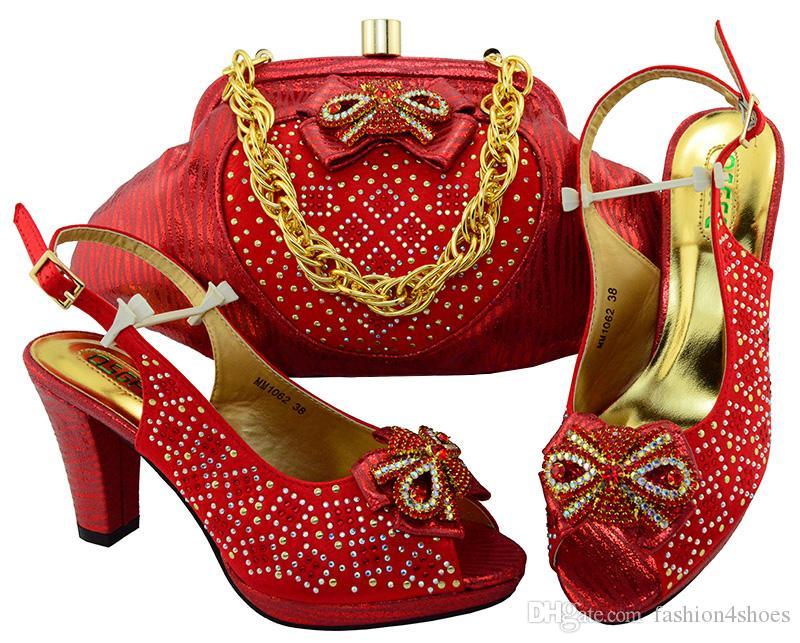 d7bf3d2909 Großhandel Neue Fuchsia Farbe Afrikanische Passende Schuhe Und Taschen  Italienisch In Frauen Verkäufe In Frauen Passende Schuhe Und Tasche Set  Verziert Mit ...