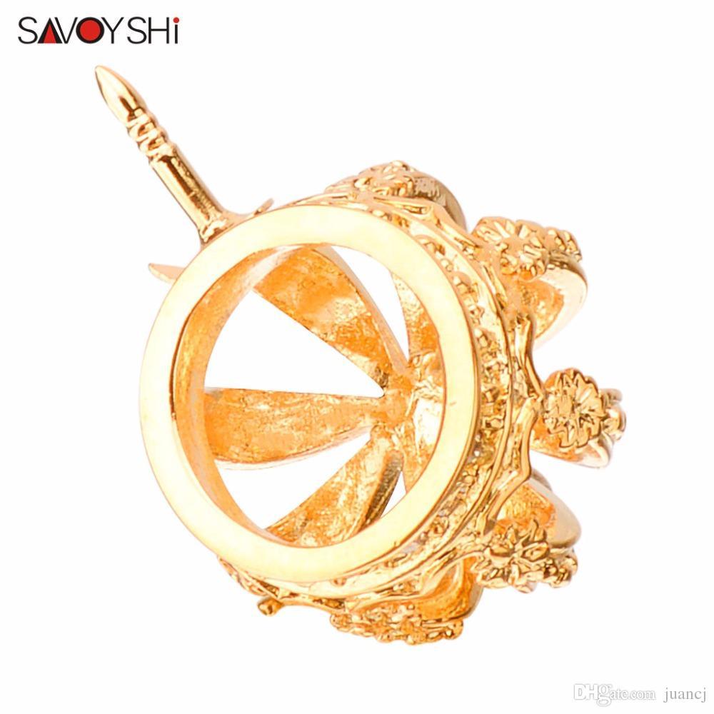 SAVOYSHI coroa de cristal broche mulheres se vestem Broches para Collar Homens de ouro Pin Broches moda jóias partido presente de noivado
