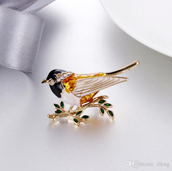 2018 United States Cute girl diamond bird Brooch brooches rhinestone Clothing accessories Pins Party Prom Women pin 49